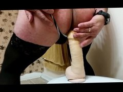 Fucking dildo with my own cum