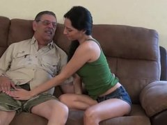 Old Man and Young Girl . See more videos at my profile