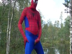 Randon spiderman self pleasure