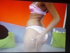 jerk off instructions bikini pink satin