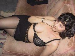 toronto milf lusy fay in sexy black dress striptease