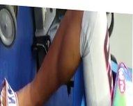 Ebony In Nike Sandals