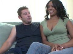 beautiful black girl takes massive white cock!