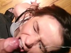 Very Pretty Woman On Her Knees For A Facial