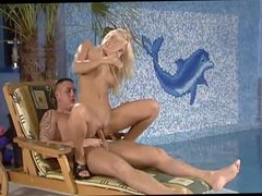 Blonde German Girl Fucks near the Pool