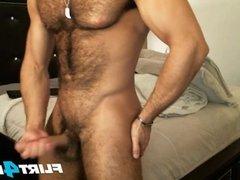Good Looking Hairy Stud Sean Zevran Enjoys a Dildo and Cums Twice