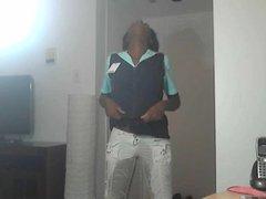 Black Girl Wet White Pants