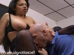Huge natural tits on a filthy whore