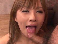 Mind blowing trio porn along superb Rinka Aiuchi