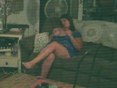 Son's Spy Cam Caught Horny Step Mom Masterbating while Dad was away