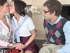Horny teacher Ava Adams gives her students important sex les