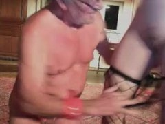 grandpa and girl play on cam