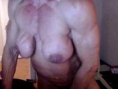 Big Female Bodybuilder Webcam Session