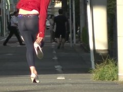 tv tights walk public