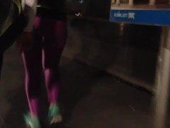Spandex ass, sexy sporty girl, culazo en mayones