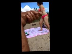 MILF shocked by beach dick flasher PublicFlashing.me