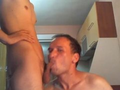 Romanian Daddy Sucks His Friend's Cute Son 1st Time On Cam