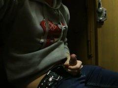 jerkoff in train