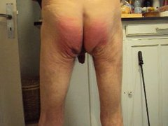 Cock and buttock beating 1