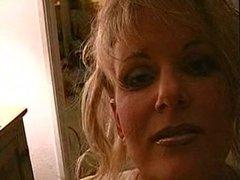 Blonde with Huge Implants Gives Hot Blowjob (JJ)