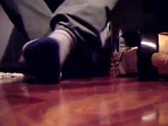 Boots, socks and barefeet