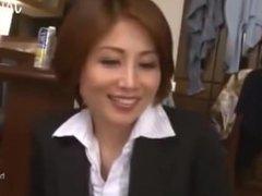 Mature teacher satsuki kirioka groped & fucked by her students while drunk!