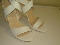 Fucking and cumming new white sandals
