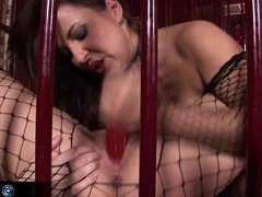 Mandy Bright and Maria Belucci extreme dildo playing