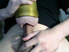 Fleshlight masturbating, my dick is ready to cum.