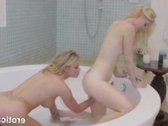 Classy lesbians play with each other