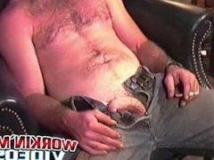 Horny amateur dude Brandon loves to jerk his hard cock