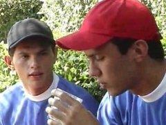 Young Men Outdoors - Scene 5