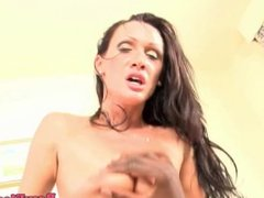 Doggystyled glam eurobabe loves black cock