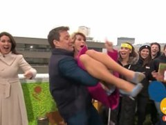 Slow Motion Kate Garraway Accidently Flashes Knickers/Spanx