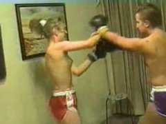 Cal Supreme Lori vs Karen Topless Boxing