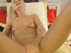 Flawless Blonde Babe Fuck Her Tight Pussy