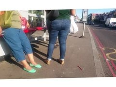 BBW Latina Jeans Candid Pt 1.