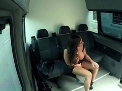 Bums Bus - German Sexy Susi interracial threesome on the bus