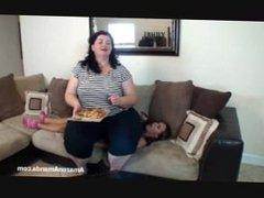 Amazon Amanda domination- force-feeding