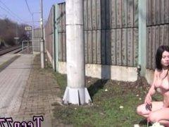 Small teen maid full length Masturbating at the teach station