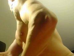 Teen bodybuilder cam flex