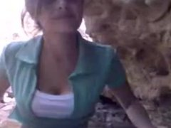 22 cute virgin girl  fucked by boyfrnd behind a rock