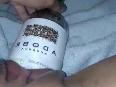 MissXXXandPAIN - Wine Bottle in my sweet pussy