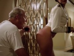 Catalina Rodriguez - Flashing her perfect butt, ass to old man - Magic City