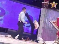 Karate Demo Girls Kick Men In Their Faces