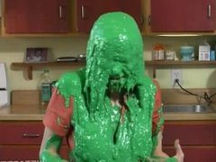 Lots of green slime