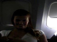 Masturbation on the plane