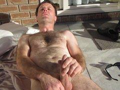 wife films husband masturbating outdoor cumshot