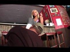 Blonde Domina Boot Slave & Ashtray