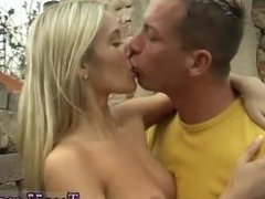 Blonde bbw fucked by pool Josje banging her paramour outdoors